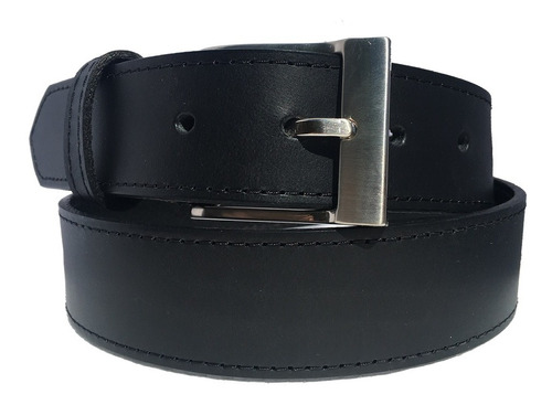 cinturon negro piel genuina resistente old caborca 35mm
