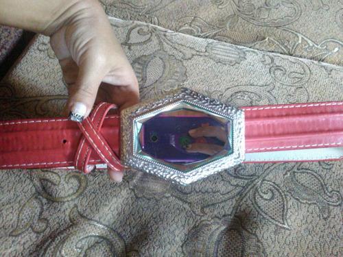 cinturon para dama rojo