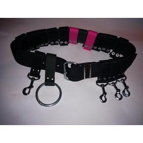 Cinturon Para Paseador Modelo 5 Mosquetones 1 Argolla