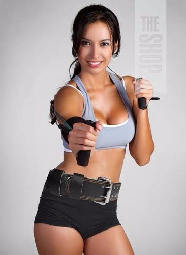 cinturon para pesas gimnasio gym en cuero mujer