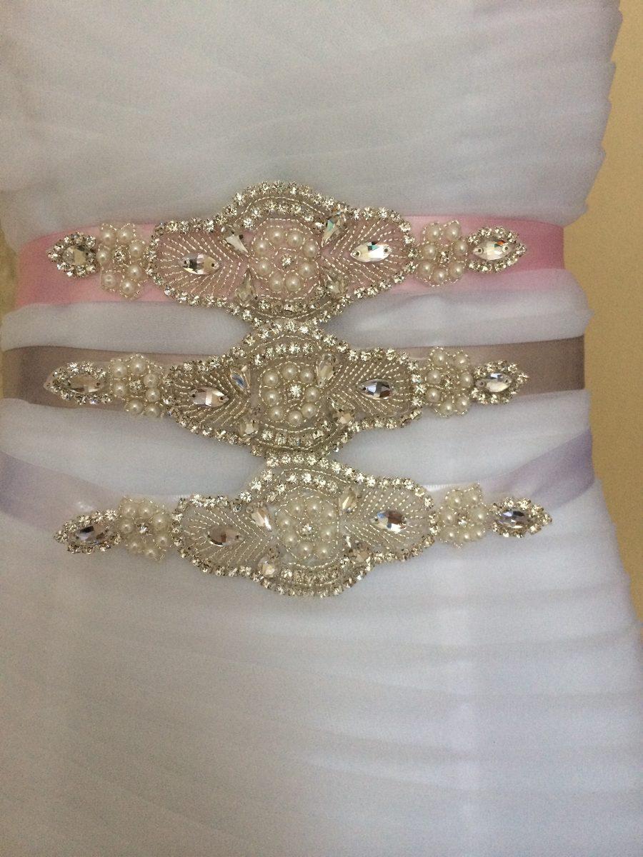 Cinturon de pedreria para vestido de novia
