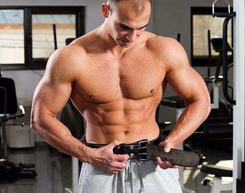 cinturón pesas gym 100% cuero 4 pulg