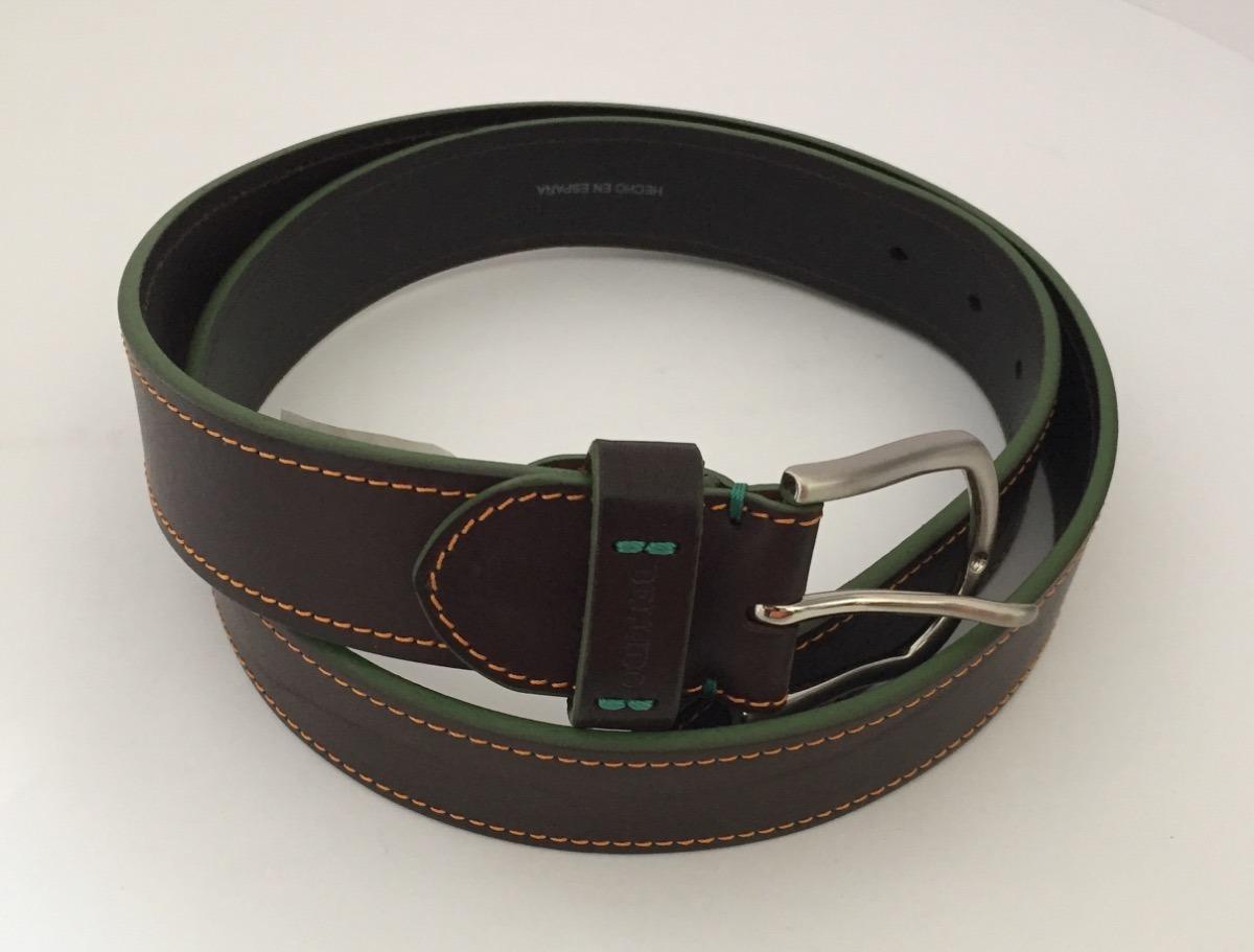 63b68c964f2 cinturón piel miguel bellido hecho en españa café talla 38. Cargando zoom.