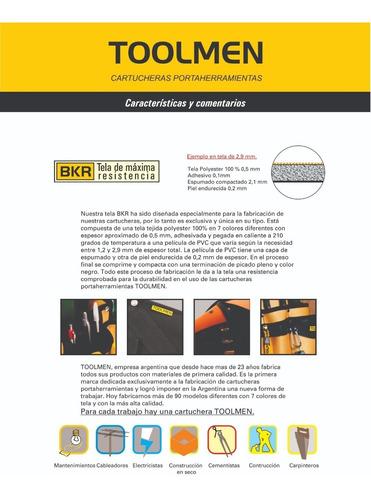 cinturon porta herramientas bolso toolmen t20 electricista