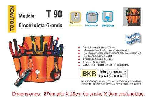 cinturon porta herramientas y martillo toolmen t90 t95 t38