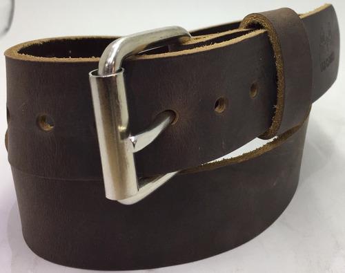 cinturon rustico piel genuina alta calidad old caborca 38mm