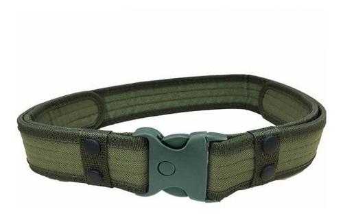 cinturon tactico militar camping color verde d3041