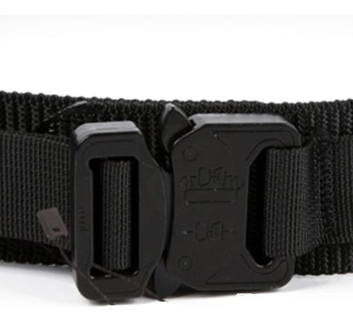 cinturón táctico reforzado hebilla metálica tipo cobra