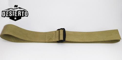 cinturon táctico sencillo beige