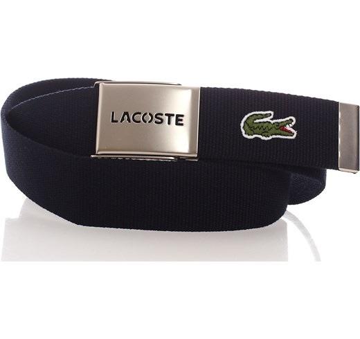 2a47b58ed9c20 Cinturon Tela Lacoste Hombre