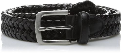 cinturón trenzado 30mm de hombres haggar, negro, 42