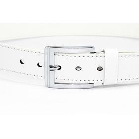 Cinturón Unisex Blanco Vinil Dama Caballero Fashion Cu14
