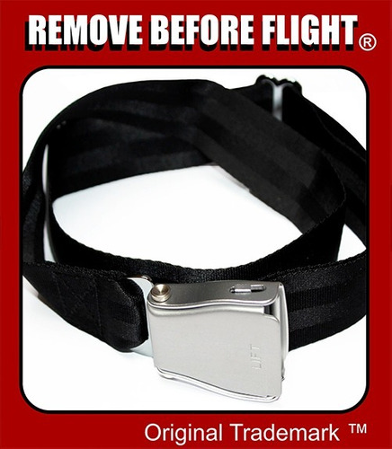 cinturón unisex con hebilla de avión - remove before flight
