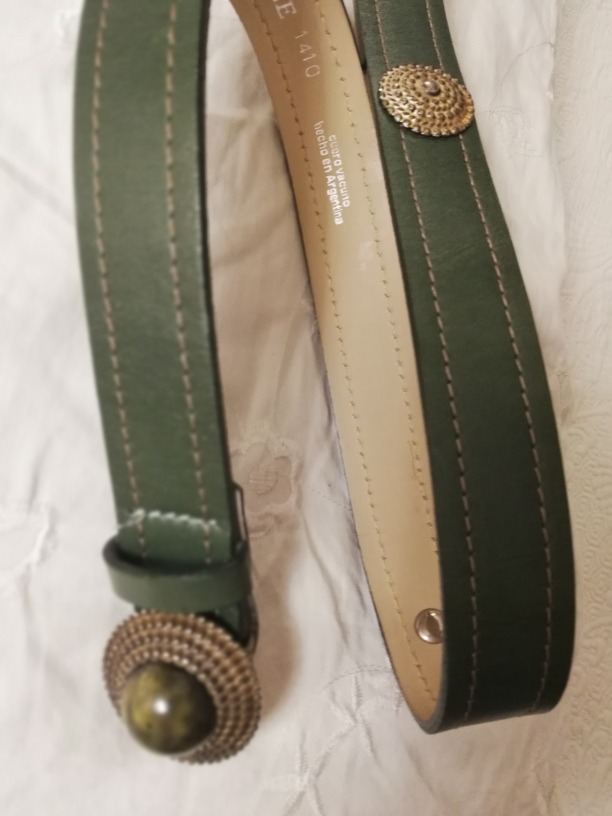 mejor servicio c6412 5a790 Cinturón Verde Mujer Cuero Usado. Impecable. Talle 95 Aproxi - $ 799,00