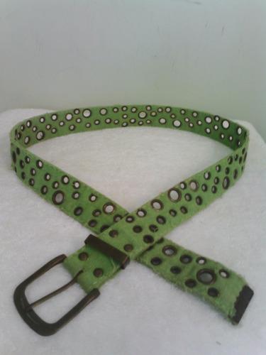 cinturon verde unisex talla 34 envio gratis