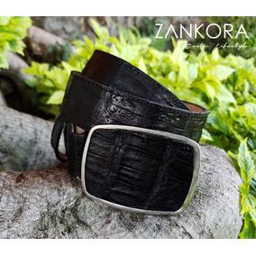 d392adc130f84 Cinturón Exótico De Cocodrilo Negro Caballero 100% Piel