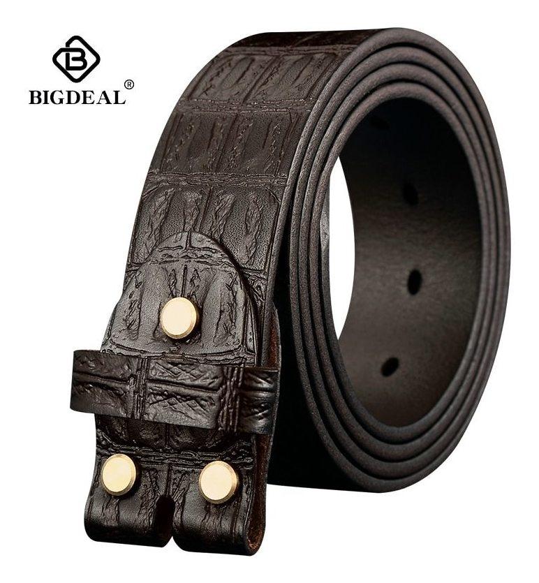 marca famosa descubre las últimas tendencias minorista online Cinturones Cuero Genuino Sin Hebilla Para Hombres Correa Mar