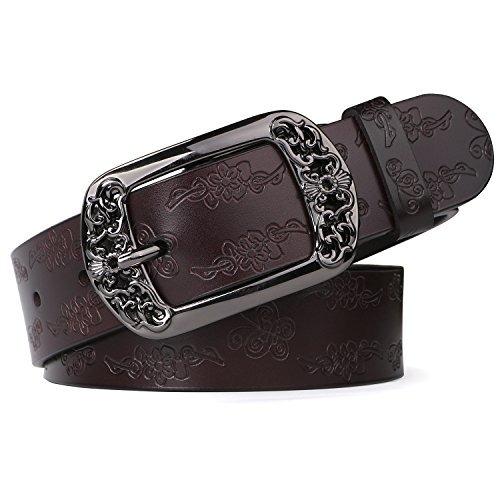 más baratas 97679 62de0 Cinturones Cuero Moda Mujer Whippy Hebilla Flor Hueca Vinta