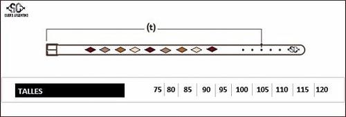 cinturónes de cuero bordado  sangre criolla hay talles xxl