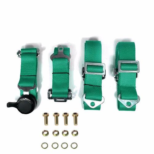 cinturones de seguridad verdes