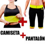 Combo Camiseta Faja Reductora + Pantalon Hot Power Formas
