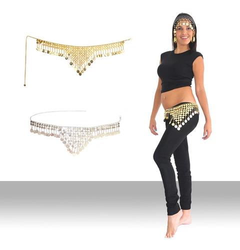 cinturones o caderines de monedas danza arabe vientre