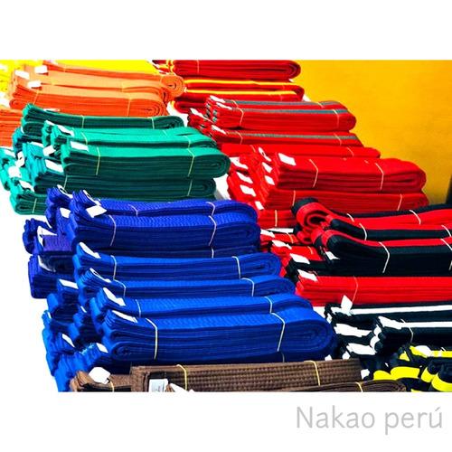 cinturones para taekwondo, karate, itf para niños y adultos