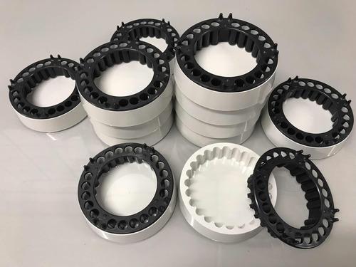 cinzeiro anti-fumaça 5 unidades - branco e preto
