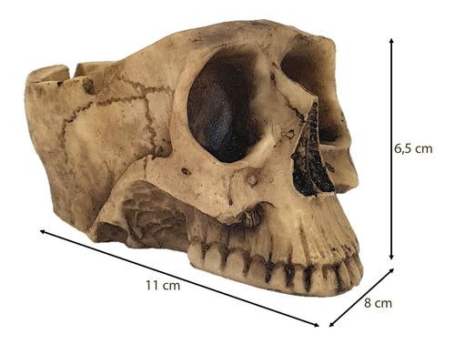 cinzeiro crânio caveira resina esqueleto