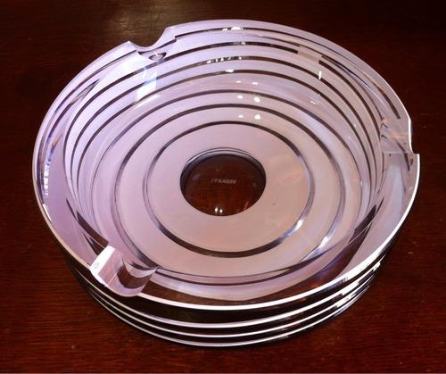 cinzeiro de cristal - strauss frete grátis