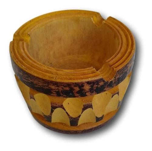 cinzeiro de madeira artesanal ref: 9507