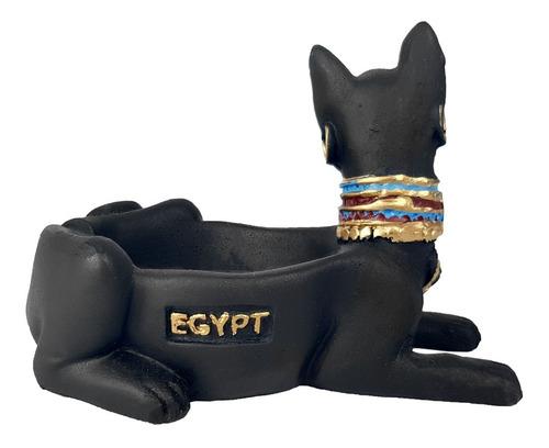 cinzeiro egipcio deus bastet enfeite decorativo resina