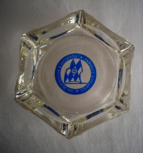 cinzeiro navio steamship company vidro anos 50