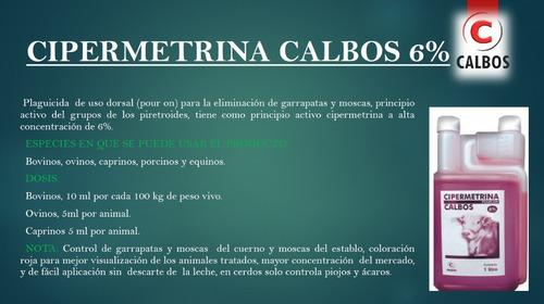 cipermetrina 6% mosquicida bovino pour on x 1 l lab calbos