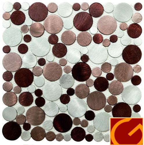 circler beige malla de aluminio venecitas revestimiento