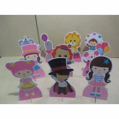 circo rosa display de mesa,festa infantil,md