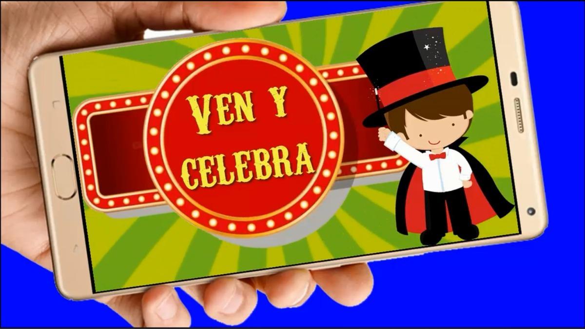 16fda0a85bdc3 circo vídeo tarjeta invitación digital cumpleaños whapsapp. Cargando zoom.