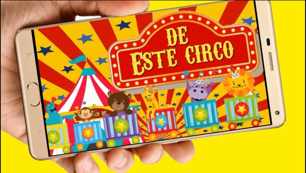 ef509a89e0dd9 Circo Vídeo Tarjeta Invitación Digital Cumpleaños Whapsapp -   298 ...
