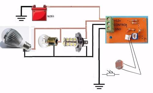 circuito 12v sensor ldr fotocelda led lm311 60watt 20cm