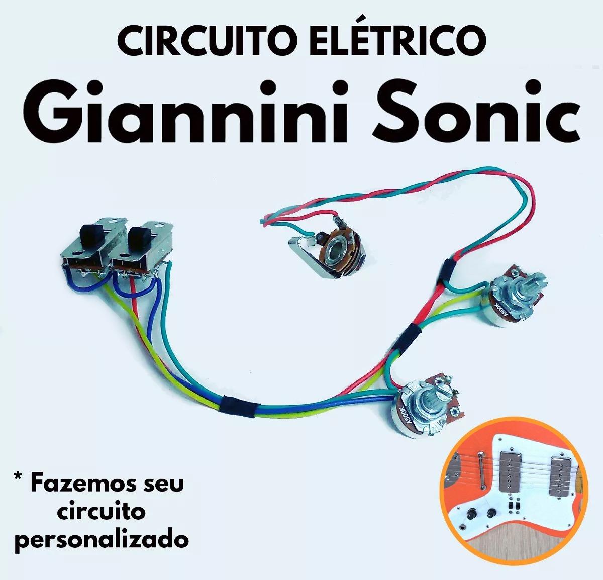 Circuito Eletricos : Circuito elétrico guitarra giannini sonic antiga r em