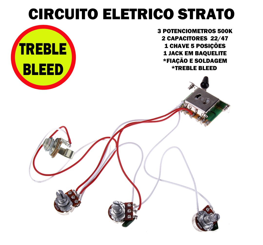 Circuito Eletrico : Circuito eletrico guitarra strato pot treble bleed r