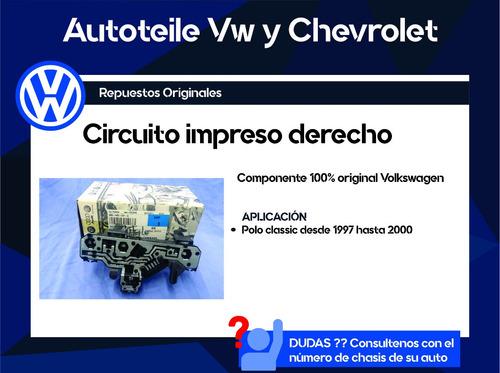 circuito impreso derecho vw polo classic original