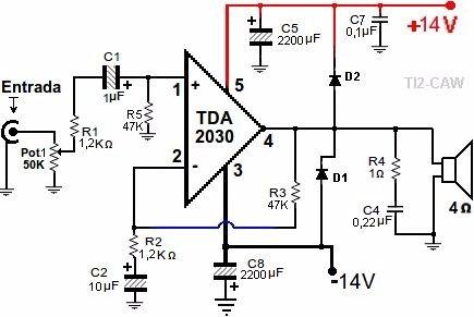 circuito integrado tda 2030 idem tda2050  kit de 5 piezas