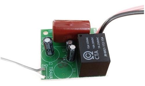 circuito módulo temporizador trava elétrica agl