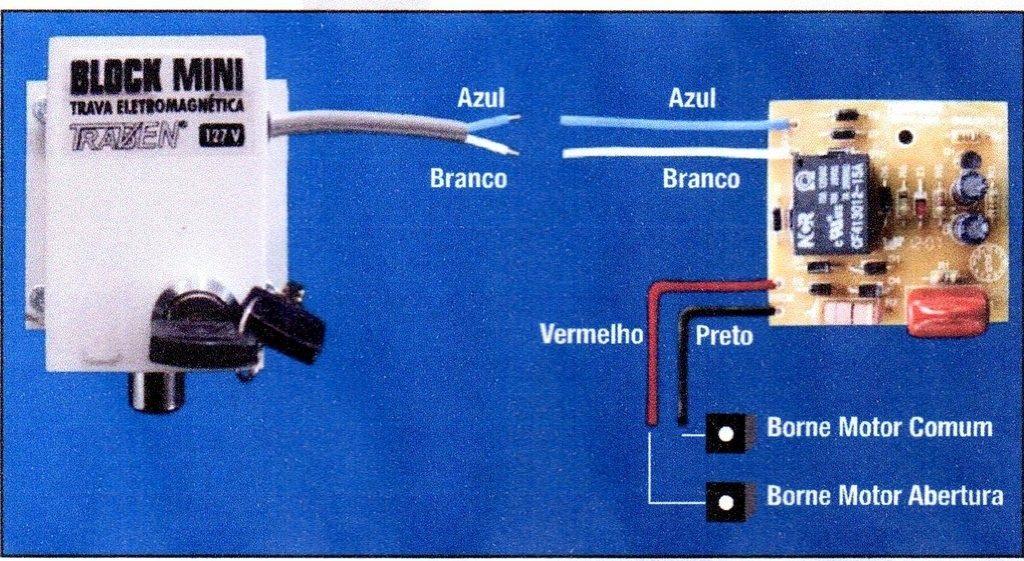 Circuito Temporizador : Circuito módulo temporizador trava portão automático r