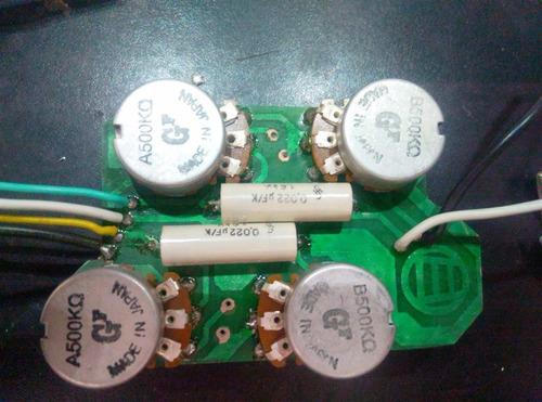 circuito p/ guitarra les paul sg  montado en plaqueta pcb