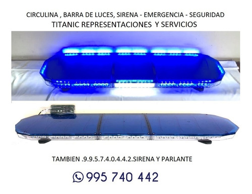 circulina - barra luces led -sirena - emergencia - seguridad