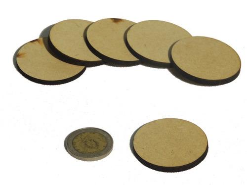 círculo - disco figuras cuadrados fibrofacil mdf - 100 un