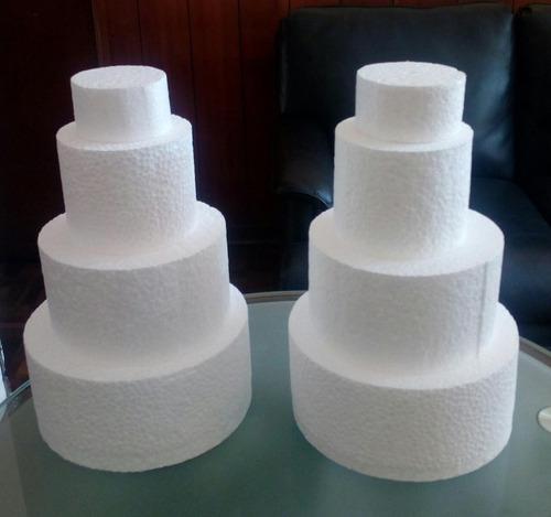 circulos de tecnopor d18 ( 11.5 x 5.0 cm. ) x 12 unidades