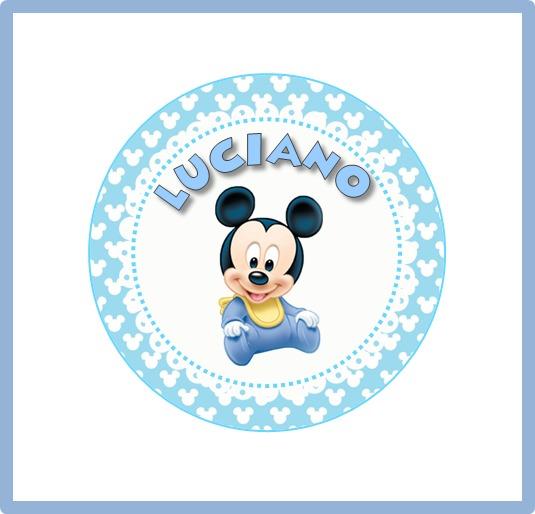 círculos imprimibles mickey bebé para imprimir